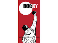 Original Rocky Balboa Poster Blu Boxing Art Print Apollo Creed Hot Toys nt Mondo