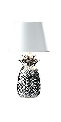 LIVARNO LUX® Tischleuchte Ananas silber Nachttischlampe Tischlampe *B-Ware