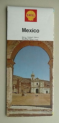 1968 Mexico road map Shell oil Olympic venues marked on Mexico City map