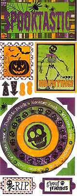 BO BUNNY~SPOOKTASTIC  cardstock stickers~so cute! HALLOWEEN  Quick Ship! - Quick Halloween Crafts