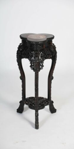 Chinese Hardwood Jardiniere Stand Qing Dynasty 19th C