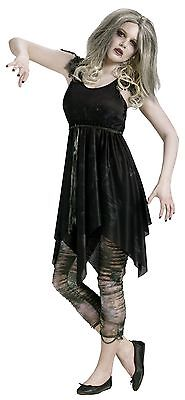 Deluxe Zombie Costume Leggings Fancy Dress Halloween Teen Girls Petite Womens