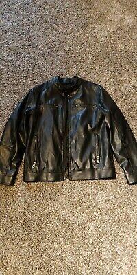 Guess Men's Leather Jacket (Black) (M)