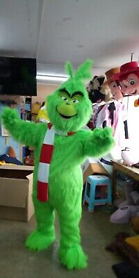 Grinch Characters Costumes (Grinch Green Christmas Character Mascot Costume Cosplay Party Event)