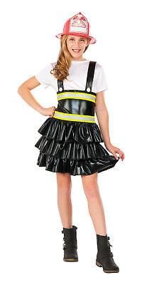 Girls Firefighter Costume Black Dress Child Size Medium 8-10