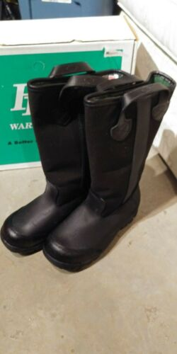 Fire Fighter Boots Leather Size 7-1/2 W
