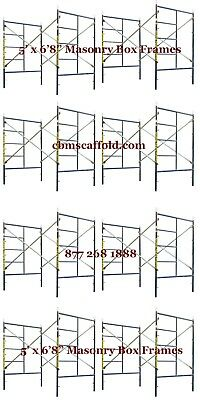 Cbm Scaffold Eight Set Snap On Lock 5 X 68 X 7 Masonry Scaffolding Frame Set