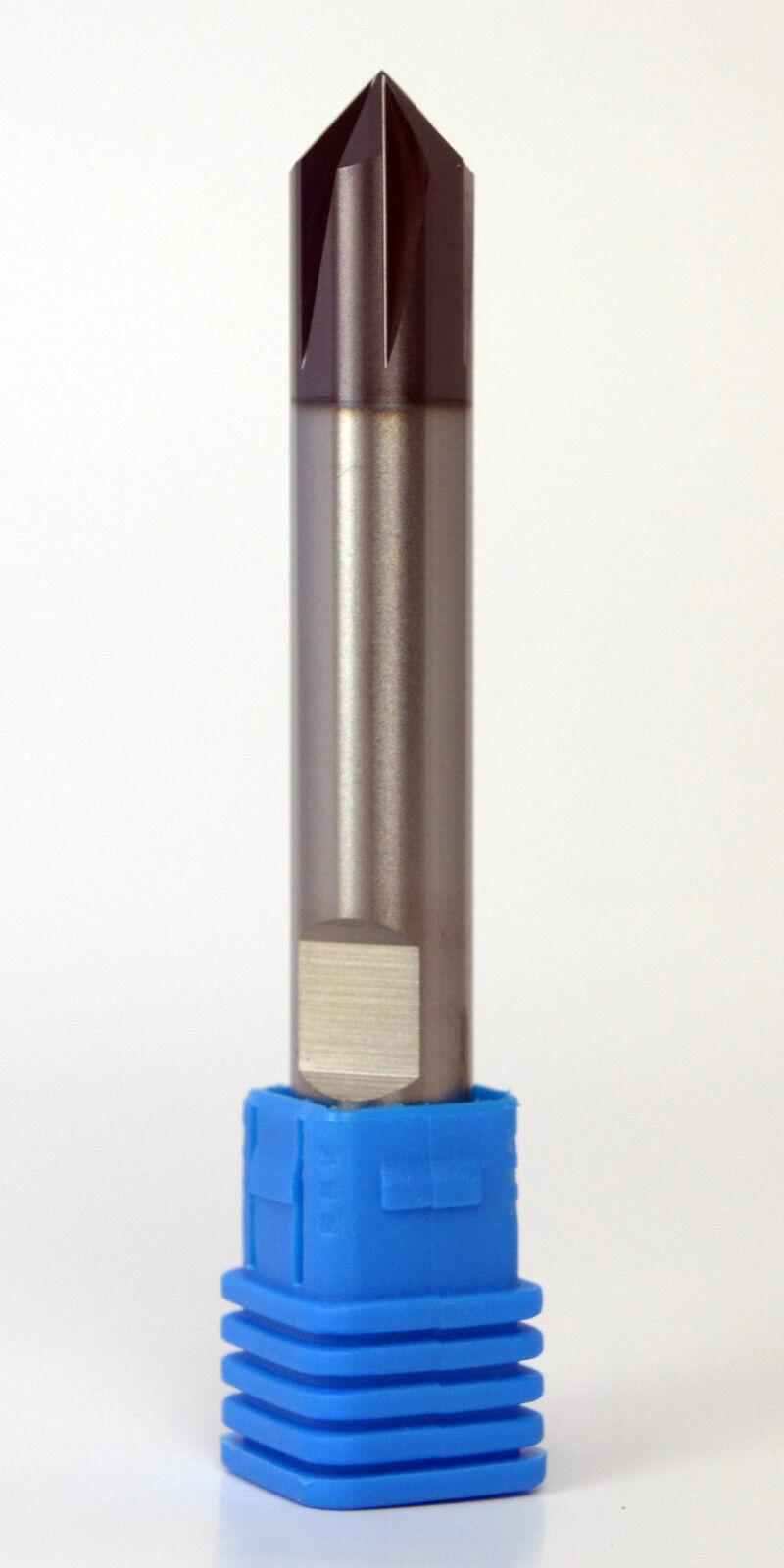 VHM Fasenfräser, Entgrater, 90°, Ø4-12mm, Z4-6, HB-Schaft, DIN 6535