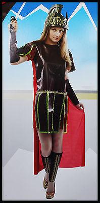 Kostüm Antike Römer Frau Mädchen - Karnevalkleid Gladiator Einheitsgröße