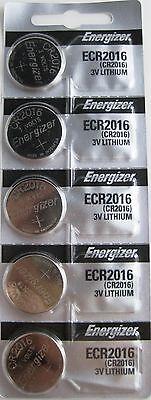 5 NEW ENERGIZER CR2016 CR ECR 2016 3v LITHIUM Battery