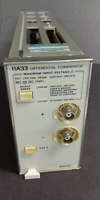 Tektronix 11a33 Differential Comparator Plug In Module Dc To 150 Mhz Bandwidth