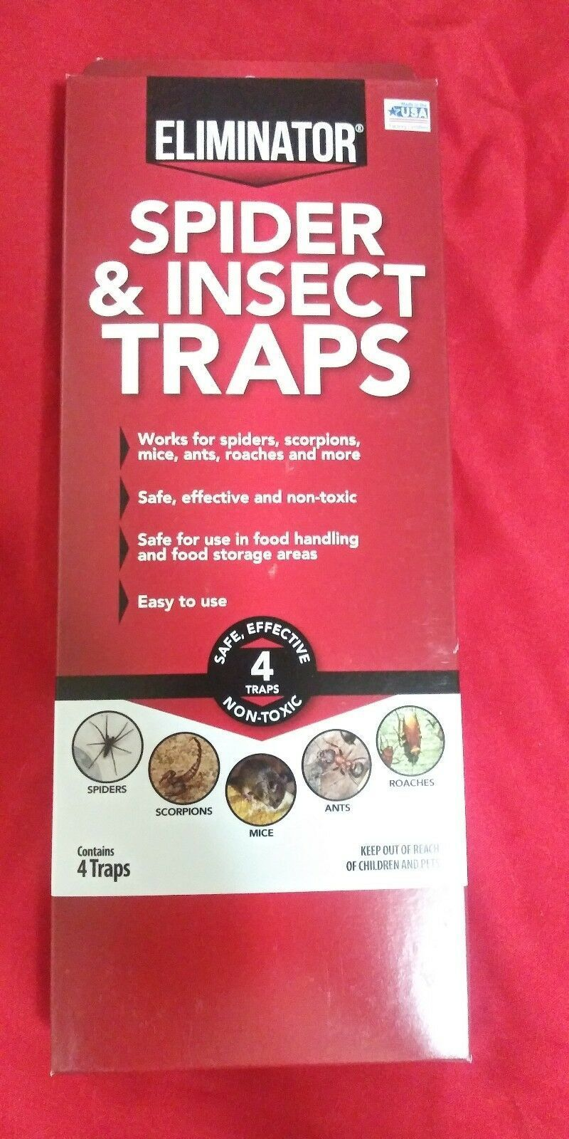 Eliminator Spider and Insect Traps, 4 count free shipping mi