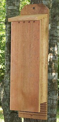 2 Chamber Handcrafted Cedar Bat House Pest and Mosquito Control