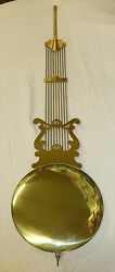 BRASS LYRE 94cm  PENDULUM FOR EMPEROR OR HERMLE/RIDGEWAY GRANDFATHER CLOCK