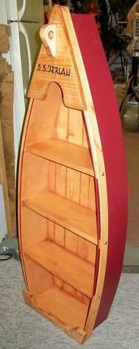 **NEW** Custom 4 Ft Handmade Wood Canoe Nautical Boat Shelf - Choose finishing!