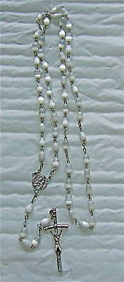 Rosary ancient in PÂTE DE VERRE OR MOTHER-OF-PEARL