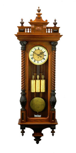 """52"""" German Gustav Becker Grand Sonnerie 3 Weight Vienna Regulator Wall Clock"""