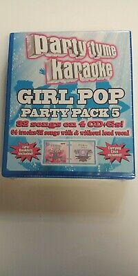 Party Tyme Karaoke - Girl  Pop  Party  Pack  5 (4 CD set) Brand new..sealed segunda mano  Embacar hacia Argentina