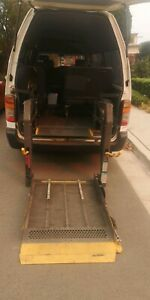 Wheelchair lift rear load Toyota hiace commuter