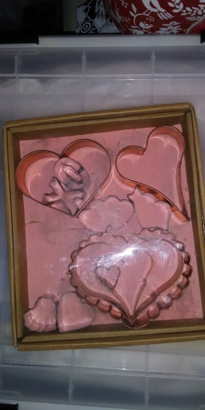 Copper Heart Shaped Cookie Cutters