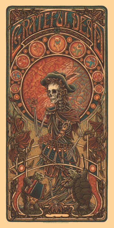 *Grateful Dead GD2 Jack Straw Timed Edition Poster by Luke Martin - PRESALE*
