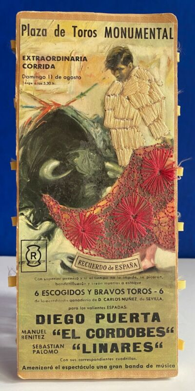 Rare-Vintage Recuerdo de España- Large Bullfighting themed matchbox