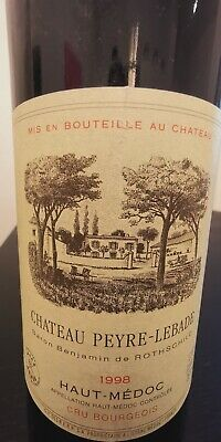 Rotwein Haut Medoc Chateau Peyre Lebade Rothschild 1998 750ml 12,5% vol