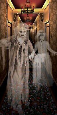 Halloween Decorations Wall Scenes (Haunted House HALLWAY GHOSTS Halloween Party Decorations Wall Scene Setter)