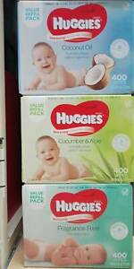 Huggies Thick & Soft Baby Wipes 400 pack