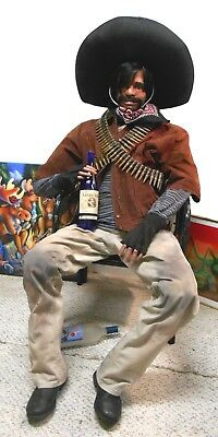 Life-Size Dummy Original Mexican Bandito,Male,Body Guard,Flexible Man,Prop,USA - Life Size Dummy