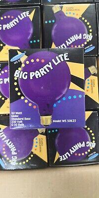 48x Big Party Lite bulb 40W Glühbirne Globe G30 E27 WS50625 Klar Purple RAR - 40w Klar Globe