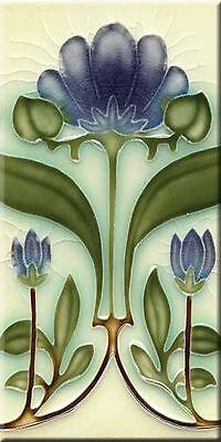 Art Nouveau Reproduction 3 X 6 Inches Ceramic Wall Tile #000018