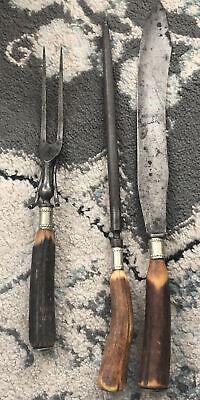 Wilbert Cutlery Co Carving Knife - Sharpener - Meat Fork - butcher steak knife
