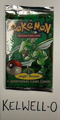 FACTORY SEALED Pokemon: Jungle Booster Trading Card Game Scyther art 11 Cards