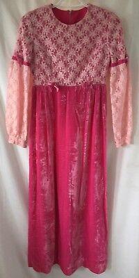 Pink Velvet Lace Dress Girls 8 10 12 Jane Austen Shakespeare Juliet Costume
