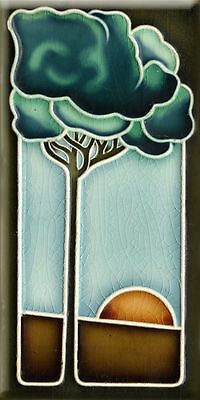 Art Nouveau Reproduction 3 X 6 Inches Ceramic Wall Tile #003