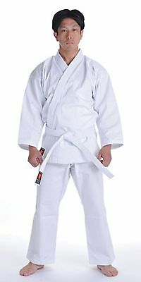 Kanku New White Karate Uniform  Gi 7 5 Oz Adult Kids W White Belt Tae Kwon Do