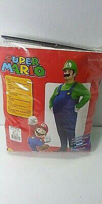 Deluxe Luigi Super Mario Bros Adult Large Costume Halloween Fits 42-44 jacket (Super Mario Bros Halloween Kostüm)