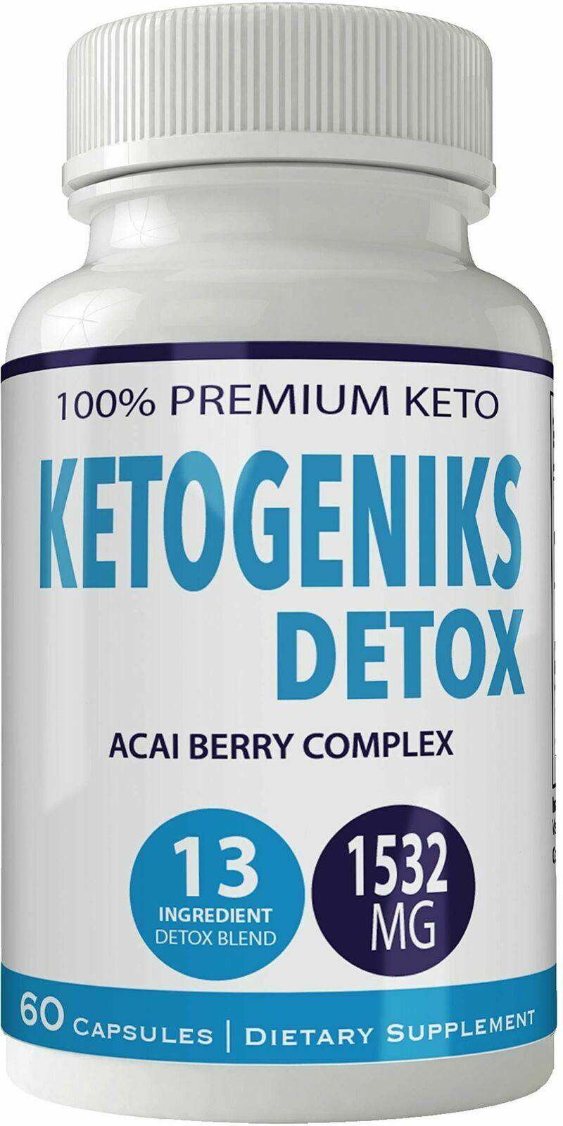 Ketogeniks Detox Pills Max Dietary Supplement 100% Natural Keto Formula