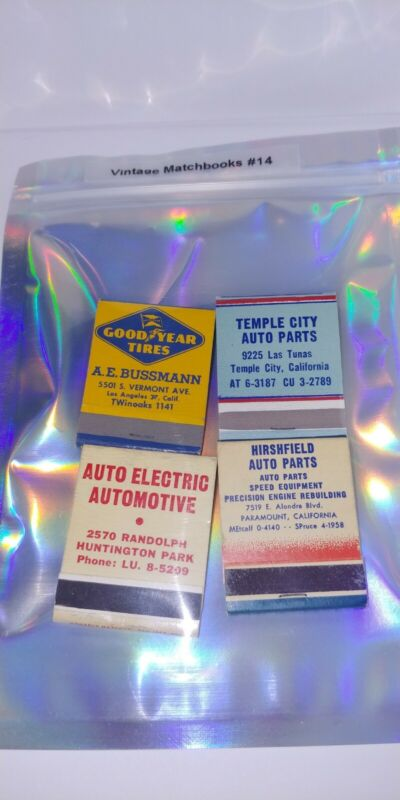Classic Car Care California Locations Vintage Original Advertisement Matchbook