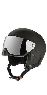 Crivit Pro Ski- und Snowboardhelm mit Visier schwarz Gr. S/M mit Kratzer *B-Ware