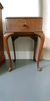Queen ann style bedside table.  75cm high.