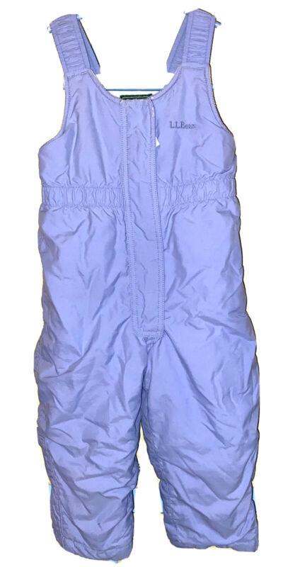 LL Bean Girls Light Blue Ski Snow Pants Size 3T