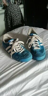 Blue Adidas Dragon Trainers Size 4