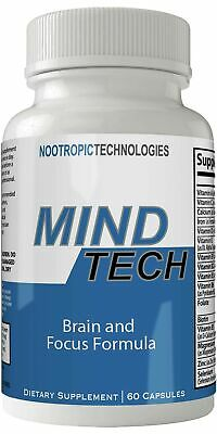 Mind Tech Nootropic Technologies Mindtech Brain Booster Supplement 60 Capsule...
