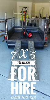 7 x 5 CAGED TRAILER FOR HIRE