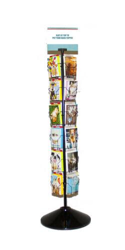 "24 Pocket Rotating Greeting Card Rack - 66""H x 12""D (RACK ONLY)"