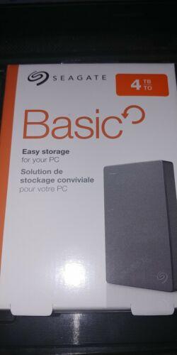 NEW SEAGATE Basic 4TB HDD Portable External USB 3.0 Hard Drive STJL4000400