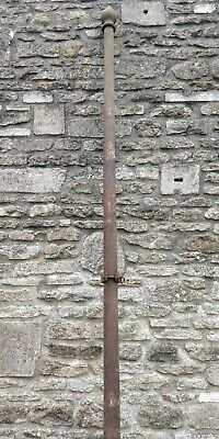VICTORIAN CAST IRON FLAG POLE WITH FINIAL TOP