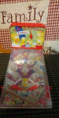 Simpsons Battery Operated Table Top Pinball Game 1990